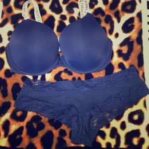 Victoria's Secret bra and panty set.